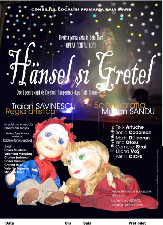 afis Hansel și Gretel