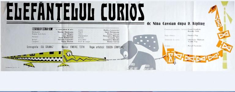 afis Elefănțelul curios
