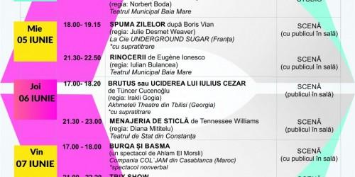 """Programul Festivalului Internațional de Teatru """"ATELIER"""" – ediția a 26-a"""