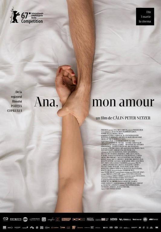 """afis Proiecția filmului """"Ana, mon amour"""""""