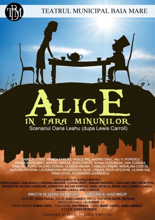 afis Alice în Țara Minunilor