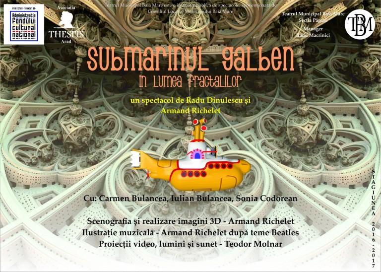 afis Submarinul galben în lumea fractalilor