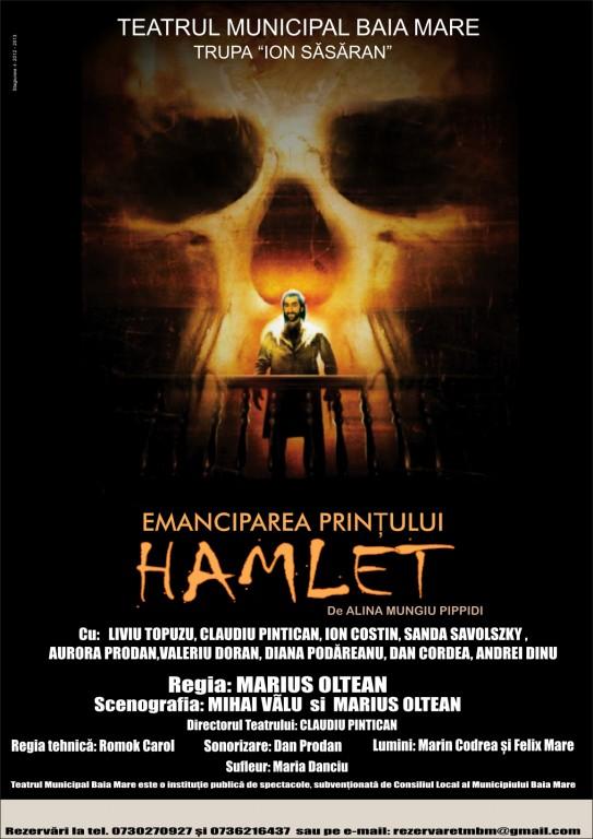 afis Emanciparea prințului Hamlet